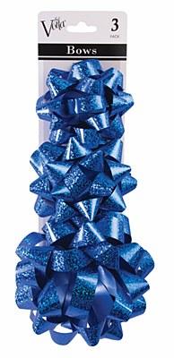 Metallic Star 3 Gift Bow Set - Blue