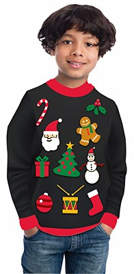 Christmas Icons Unisex Child Christmas Sweater