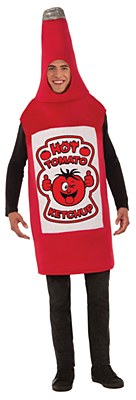 Ketchup Bottle Adult Costume