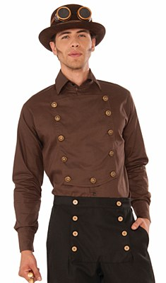 Steampunk Bib Front Button Shirt