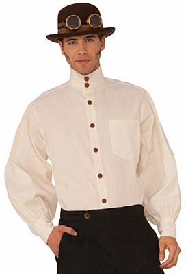 Steampunk High Collar Button Shirt