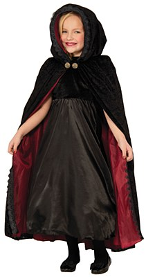 Gothic Vampiress Deluxe Child Cape