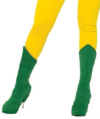 Super Hero Adult Green Boot Covers
