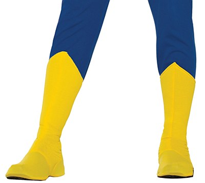 Super Hero Adult Yellow Boot Covers