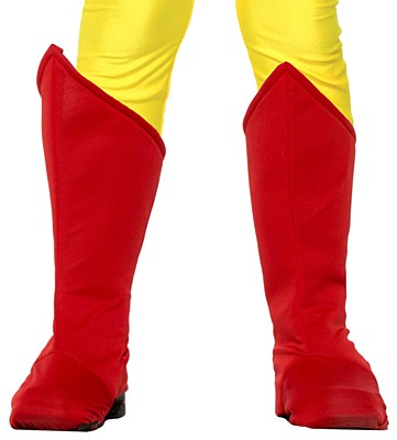 Super Hero Red Child Boot Covers
