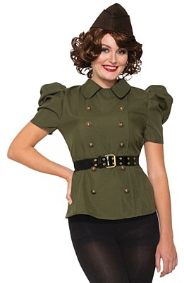Bombshell Military Ladie's Blouse