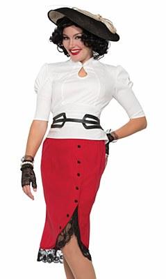 Bombshell Red Pencil Skirt