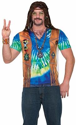 Hippie Tie Dye Men's Shirt