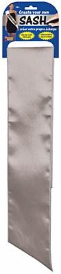 Silver Blank Solid Color Sash