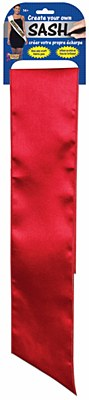 Red Blank Solid Color Sash