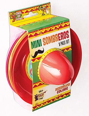 Mini Sombreros Party Hats