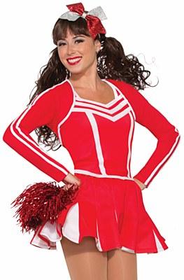 Cheerleader Short Red Pleated Mini Skirt
