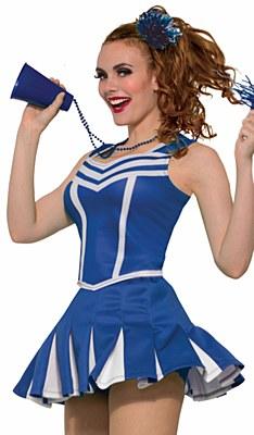 Cheerleader Short Blue Pleated Mini Skirt
