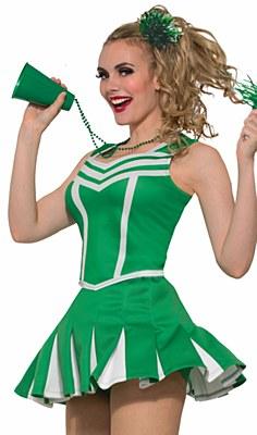 Cheerleader Short Green Pleated Mini Skirt