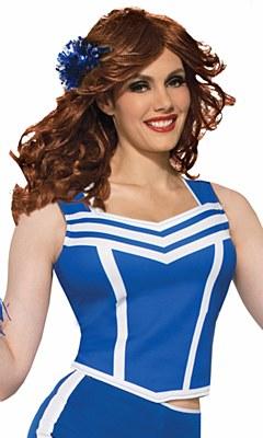 Cheerleader Blue Cropped Tank Top Shirt