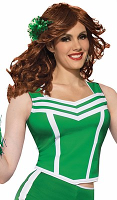 Cheerleader Green Cropped Tank Top Shirt