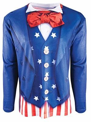 Patriotic Man / Uncle Sam Long Sleeve Shirt
