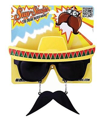 Fiesta Sun-Staches Sombrero Sunglasses