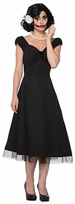 Black Dahlia Tea Length Dress