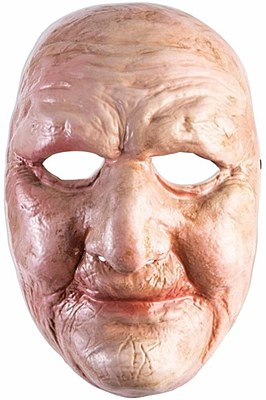 Old Lady Plastic Face Mask