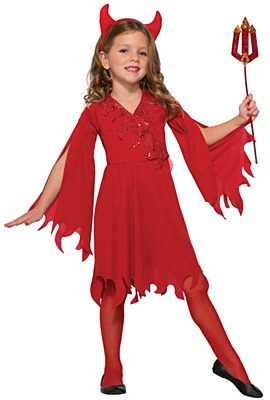 Delightful Devil Girl Child Costume