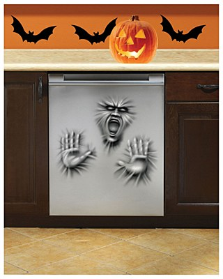 Haunted Kitchen Dishwasher Decor