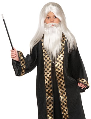 Wizard Child Wig And Beard Set