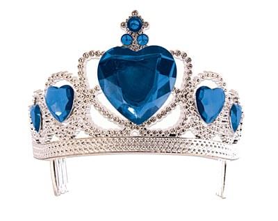Heart Gem Tiara - Blue Hearts