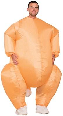 Basted Turkey Inflatable Adult Costume
