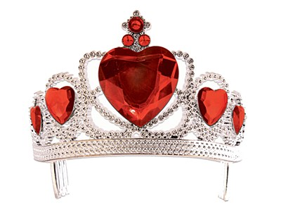 Heart Gem Tiara - Red Hearts