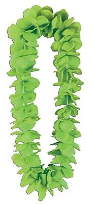 Classic Flower Petal Lei - Green