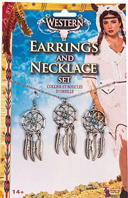 Dreamcatcher Necklace And Earrings Set