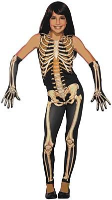Pretty Bones Skeleton Child Costume