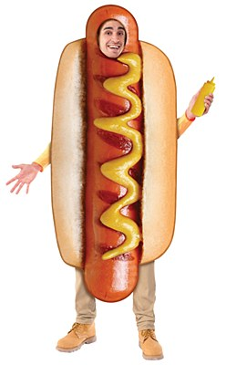 Hot Dog Real Look Adult Costume