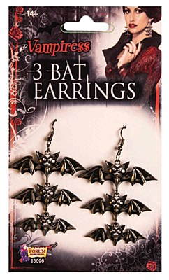 Bat Gothic Dangle Earrings