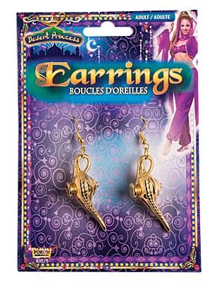 Genie Lamp Charm Earrings