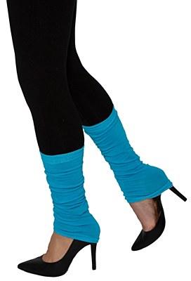 80's Thin Leg Warmers - Blue