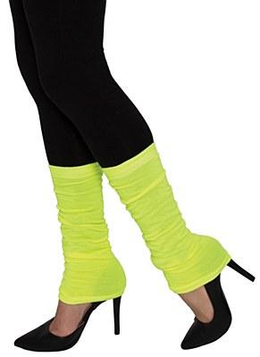 80's Thin Leg Warmers - Neon Yellow