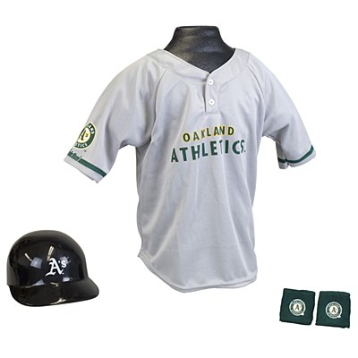 MLB Oakland Athletics Child Jersey And Helmet Set