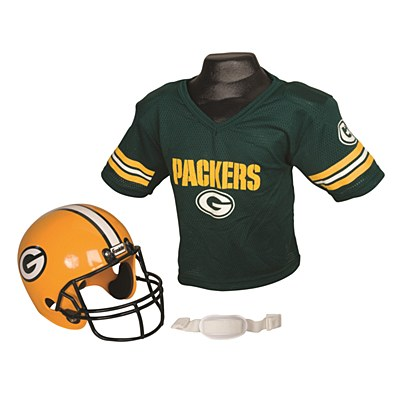 NFL Greenbay Packers Child Jersey And Helmet Set