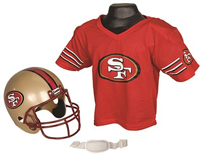 NFL San Francisco 49ers Child Jersey And Helmet Set