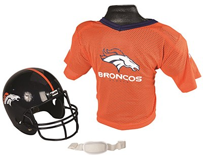 NFL Denver Broncos Child Jersey And Helmet Set