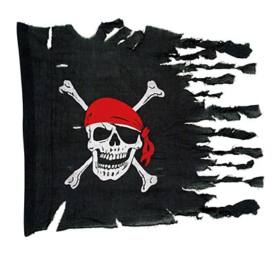 Distressed Jolly Roger Pirate Flag