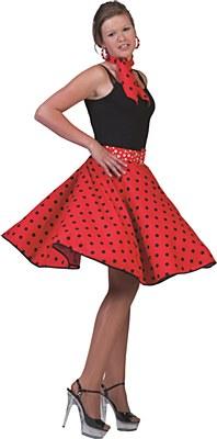 Polka Dot Skirt And Scarf Set