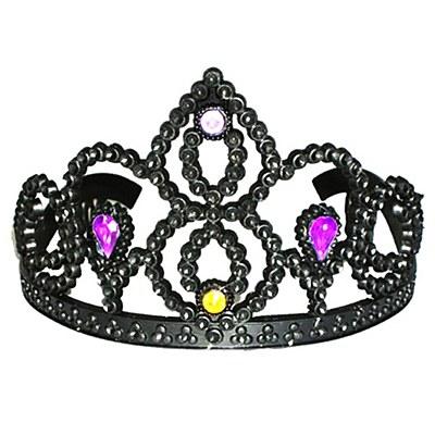 Black Tiara With Multi Colored Jewels