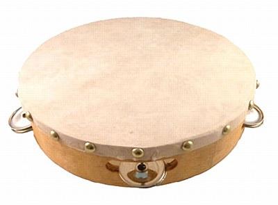 """Wood 8"""" Tambourine"""