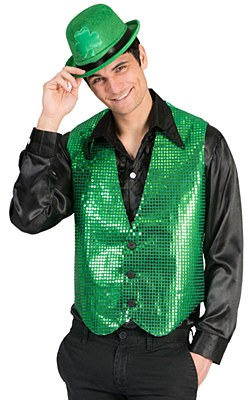 Green Sequin Adult Vest