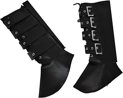 Buckled Adult Black Boot Covers