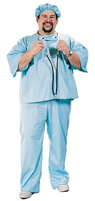 Doctor's Scrubs Adult Plus Costume