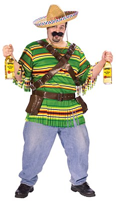 Tequila Poppin Dude Adult Plus Costume